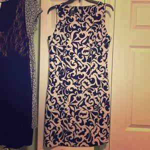 Blackwhite Retro business casual work spring dress